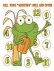 """Fall Frog """"Addition"""" Roll and Cover - 2 Dice"""