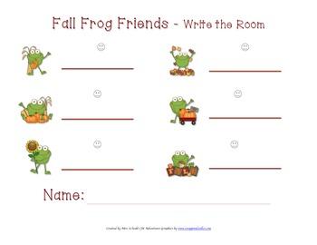 Fall Frog Write-the-Room