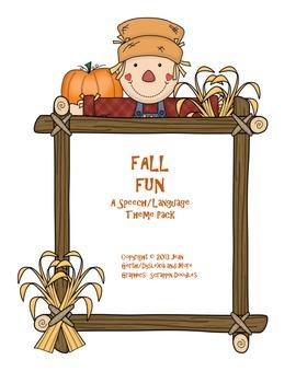 Speech Therapy: Fall Fun - A Speech/Language Theme Pack