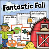 Fall Math & Literacy Centers K-1 Syllables, Count & Graph, Addition, Patterns
