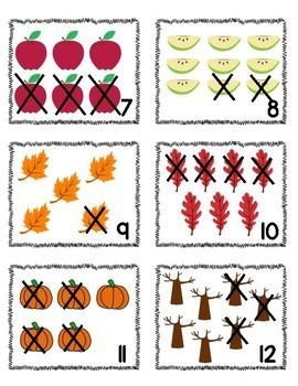 Addition & Subtraction Within 10 Write the Room (Fall Fun)