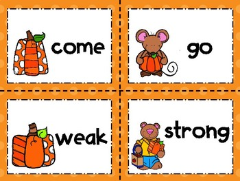 Fall Antonyms, Synonyms, and Homophones Matching & Worksheets Bundle