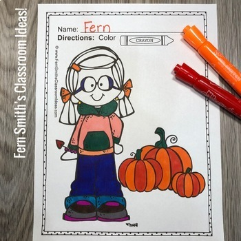 Fall Coloring Pages - 106 Pages of Fall Coloring Fun | TpT