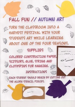 Fall Fun / Autumn Harvest Art