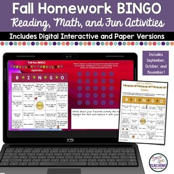 Fall Fun BINGO: A Stress-Free Homework Assignment