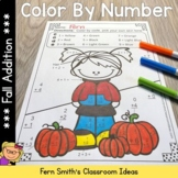Color By Numbers Fall Math Addition