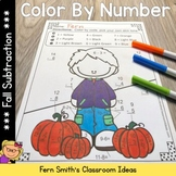 Fall Color By Number Subtraction