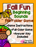 Fall Fun Beginning Sounds File Folder Game