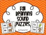 Fall Fun Beginning Sounds Printable Literacy Station