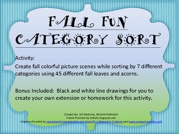 Fall Fun Category Sort