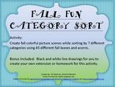Fall Fun Sort Categorization Language Processing