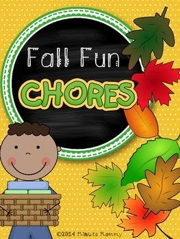 Fall Fun Chore Cards