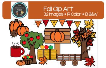 Fall Fun Clip Art- Autumn, Apples, Leaves, Pumpkins, Fall