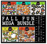 Fall Fun Clip Art Mega Bundle  {Educlips Clipart}
