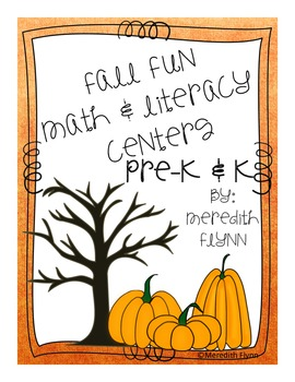 Fall Fun- Common Core Aligned Math & Literacy Units for Early Learners