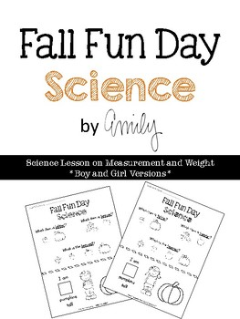 Fall Fun Day Worksheet