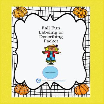 Labeling/Describing Flashcards-Fall Fun