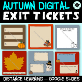 Fall Fun Digital Exit Tickets - Distance Learning - Autumn