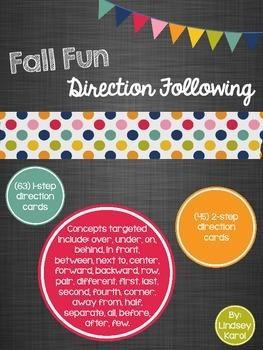Fall Fun Direction Following