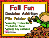 Fall Fun Doubles Addition File Folder Game