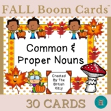 Fall Fun Drag The Common and Proper Nouns Boom Cards™