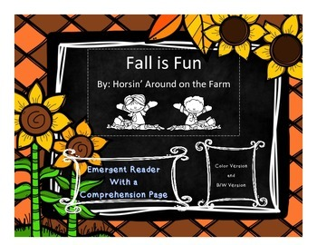 Fall Fun - Emergent Reader with Comprehension Page