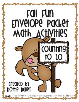 Fall Fun Envelope Activities - Math