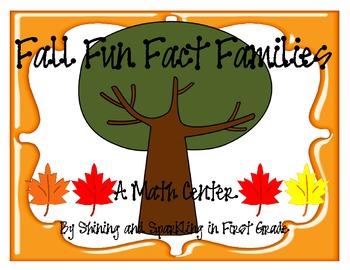 Fall Fun Fact Families Freebie {Math Center}