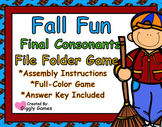 Fall Fun Final Consonants File Folder Game