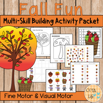 Fall Fun Fine Motor and Visual Motor Skills Packet