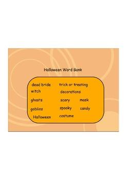Halloween Making/Reading Words Flipchart Interactive Whiteboard Activity