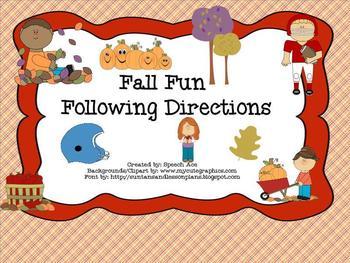 Fall Fun Following Directions