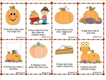 Fall Fun Following Directions