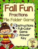 Fall Fun Fractions File Folder Game