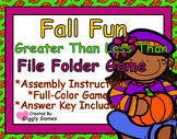 Fall Fun Greater Than Less Than File Folder Game