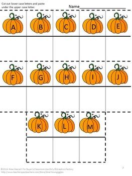 Fall Fun Math and Literacy Interactive Notebook Activities