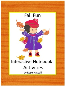 Fall Fun Math and Literacy Interactive Notebook Activities