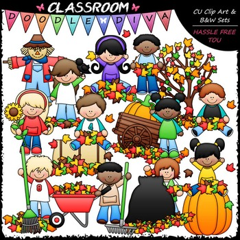 Fall Fun Kids Clip Art - Autumn Clip Art - Fall Clip Art