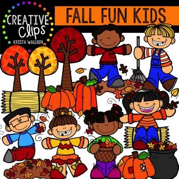 Fall Fun Kids {Creative Clips Digital Clipart}