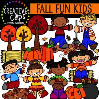 Fall Fun Kids {Creative Clips Digital Clipart}