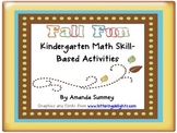 Fall Fun Kindergarten Standards Based Math Bundle