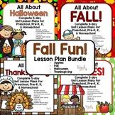 Fall Fun Lesson Plan Bundle for Preschool, PreK, K, & Homeschool!