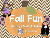Fall Fun Literacy & Math Activities