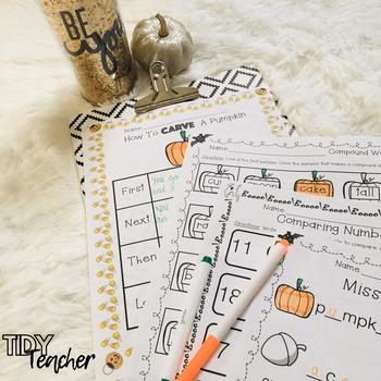 Fall Printables: First Grade