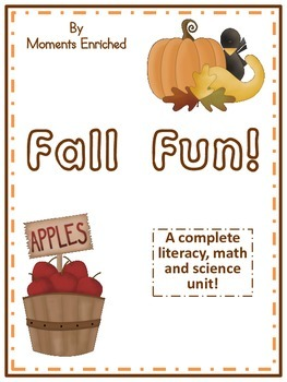Fall Fun Literacy, Math and Science Unit