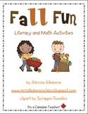 Fall Fun! Literacy and Math Activities