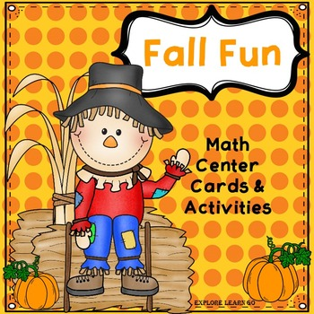 Fall Fun Math Center / Montessori Style / Hands-on Activities