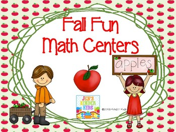 Fall Fun Math Counting Centers