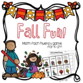 Fall Fun! Math Fact Fluency Card Game | Addition and Subtraction within 20