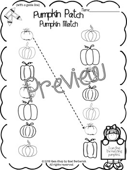 Fall Fun Math & Literacy Pack, Differentiated, Counting Activities, No Prep
